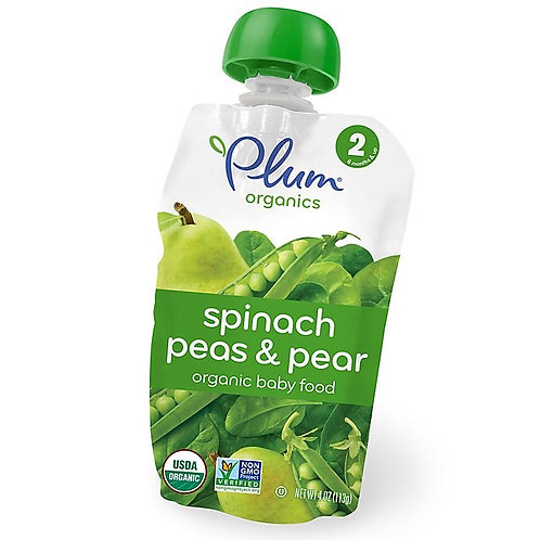 Plum Organic/ spinach pea and pear