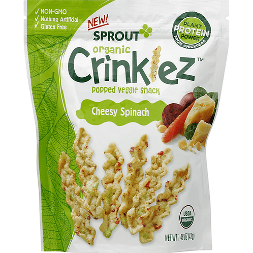 Sprout organic/ crinklez cheesy spinach