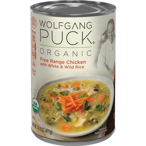 Wolfgang Puck Free Range Chicken and Wild Rice Soup 14.5oz