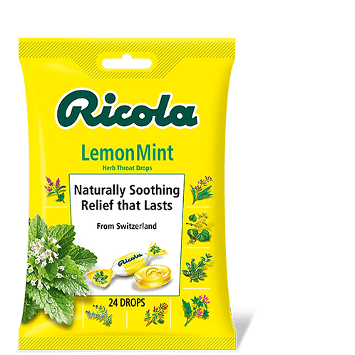 Ricola Lemon Mint Cough Drops/ 24 Drops