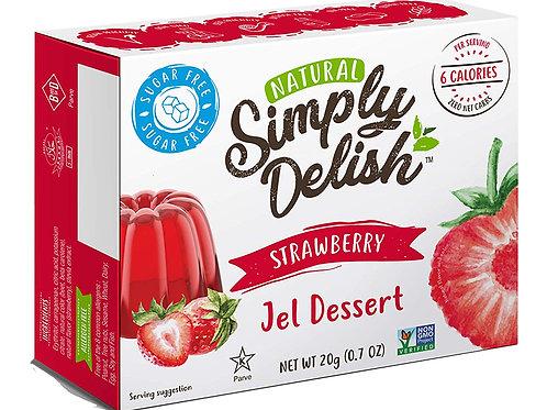 Simply Delish Strawberry Jel Dessert 0.7oz