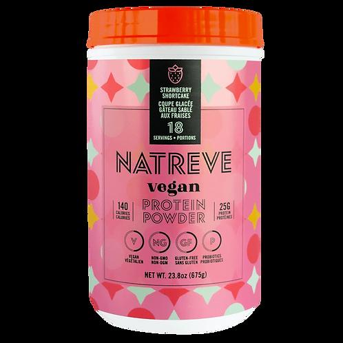 Natreve Vegan Straberry Shortcake Protein Powder 23.8 oz