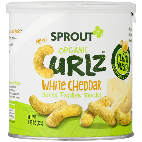 Sprout Organic Curlz White Chedder 1.48 oz