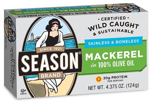 Season Fillets of Mackerel in Olive Oil 4.37oz