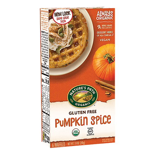Nature Path Pumkpin Spice Waffles 7.4 oz