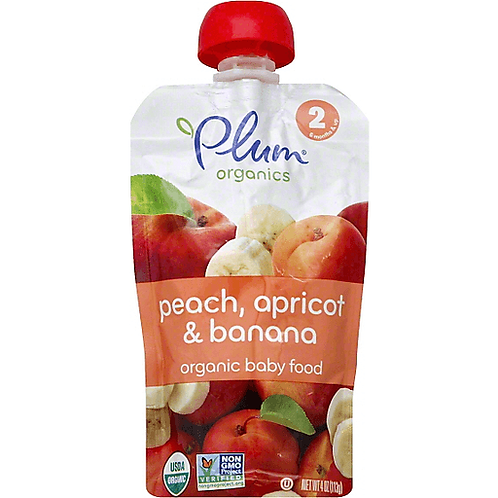 Plum Organic/ Peach, apricot and banana