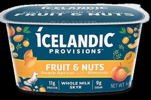 Icelandic Provisions, Peach Apricot With Almonds Yogurt Sky 4.4 oz