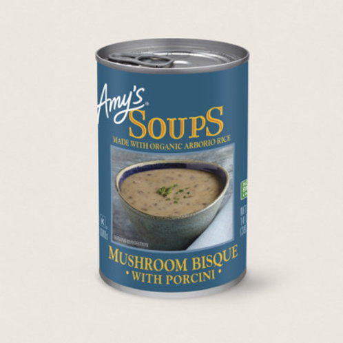 Amy's Soups Mushroom Bisque with Porcini Soup 14oz