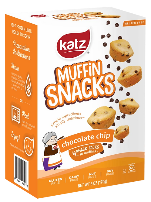 Katz Muffin Snacks Chocolate Chip 6oz