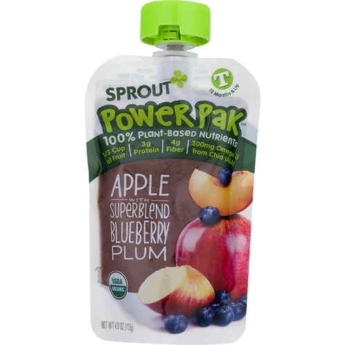 Sprout Power Pak Apple with Blueberry Plum 3.5 oz