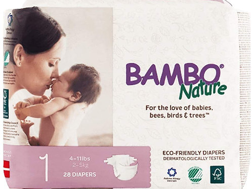 Bambo Nature/ 28 diapers size 1