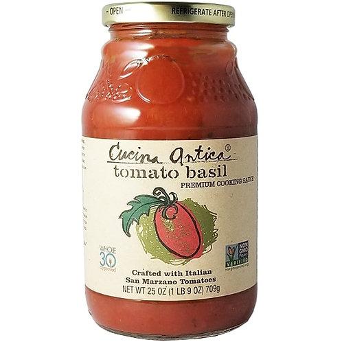 Cucina Antica Pasta Sauce, Tomato Basil 25oz