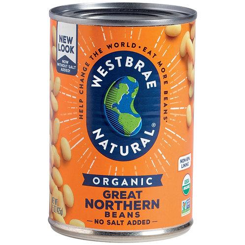Westbrae Natural Organic Great Northern Beans 15oz