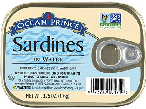 Ocean Prince Sardines in Water 3.75 oz