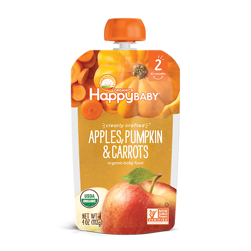 Happy Baby Apples, Pumpkin and Carrots 4oz