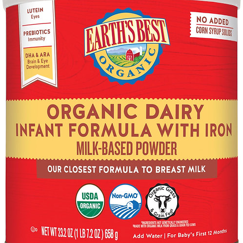 Earth Best Organic Dairy Infant Formula 23.oz