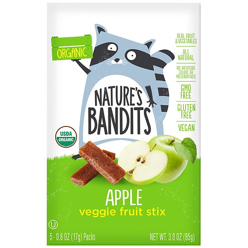 Nature Bandits Apple Fruit Sticks 1oz