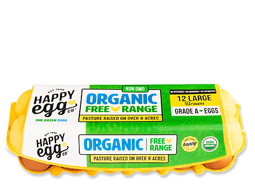 Happy Eggs. Co Free Range Organic