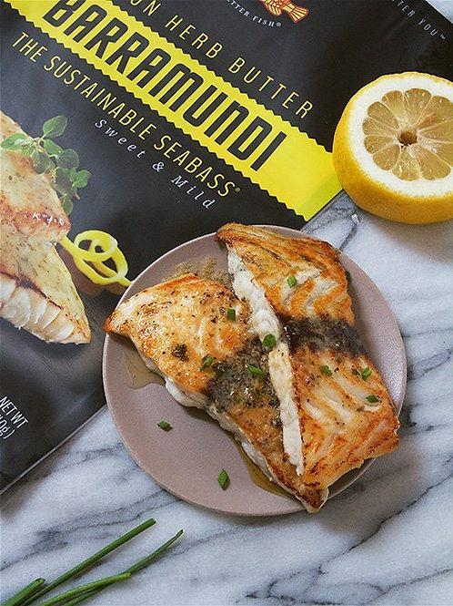 Australis, Lemon Herb Butter Barramundi Fillet 12oz