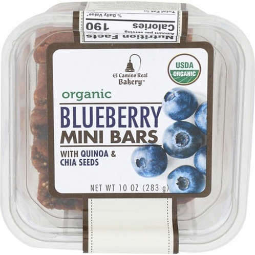 Organic Blueberry Mini Bars with Quinoa and Chia Seed