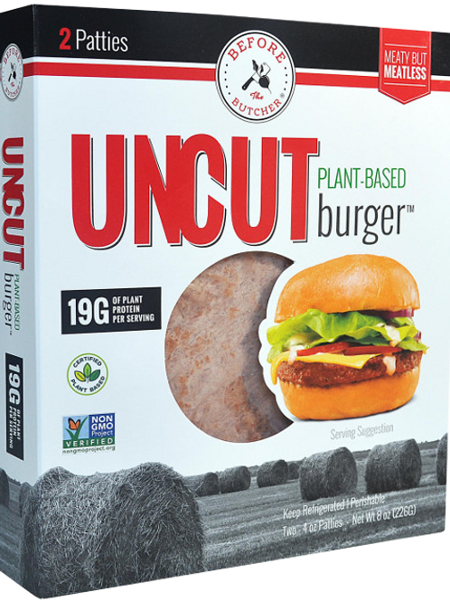 2 Packed Uncut Plant Based Burger