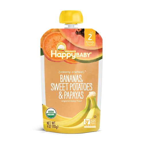 Happy Baby Banana, Sweet Potato and Papayas