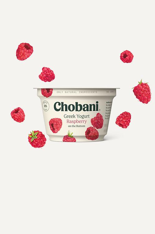 Chobani Non-Fat Greek Yogurt, Raspberry 5.3 oz