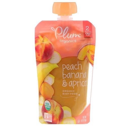 Plum Organic/ Peach, Banana and Apricot