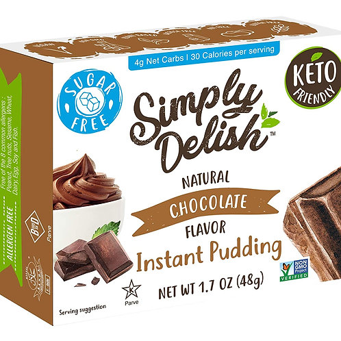 Simply Delish Natural Chocolate Instant Pudding 1.7 oz