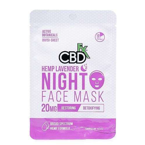 FX CBD Hemp Lavender Night Face Mask 20 mg