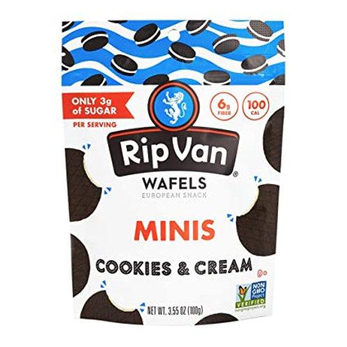 Rip Van Waffles Mini Cookies and Cream 3.55 oz