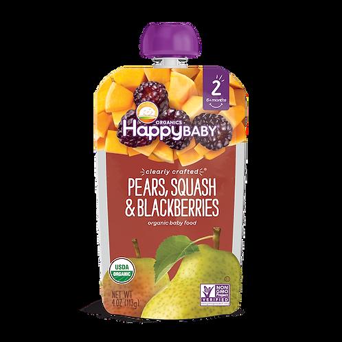 Happy Baby Pears Squash and Blackberries 4oz