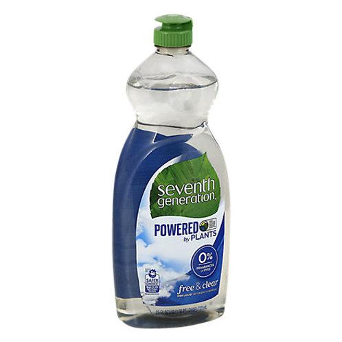 Seventh Generation Powered Dishwash Liq Free & Clear 25 oz