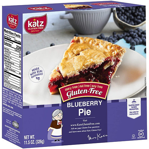 Katz Gluten Free Blueberry Pie 11.5oz