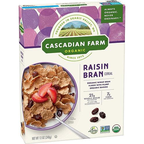 Cascadian Farm Raisin Bran 12oz