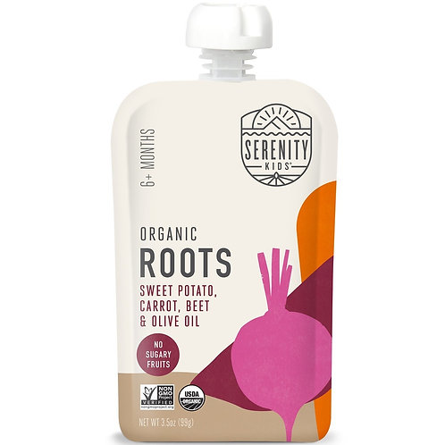 Serenity organic roots sweet potato, carrot, beet and olive oil