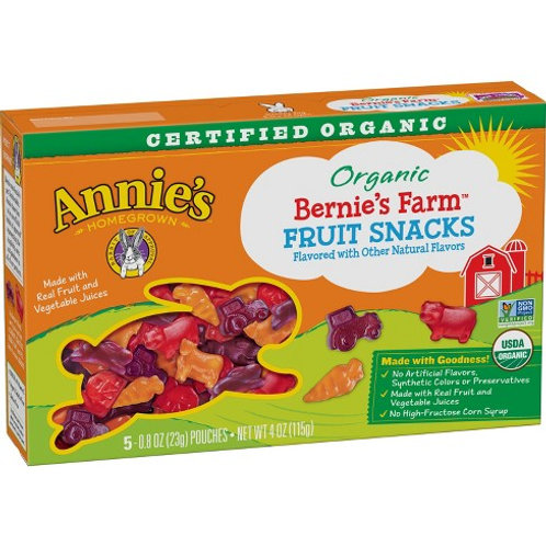 Annie's Organic Bernies Farm Fruit Snacks 0.8 oz