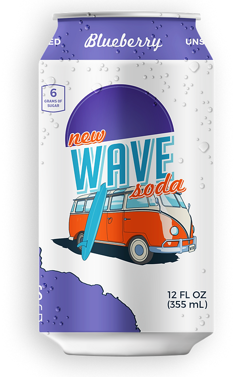 Wave Blueberry Soda