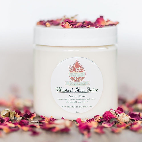 Lizzie All Natural Products Whipped Shea Butter 8oz