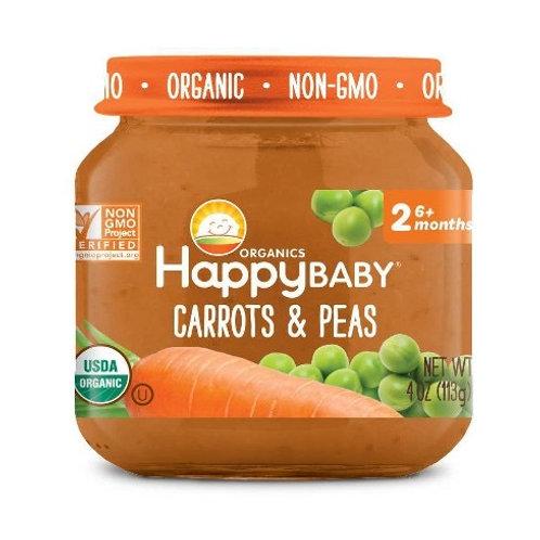 Happy Baby Carrots and Peas 4oz