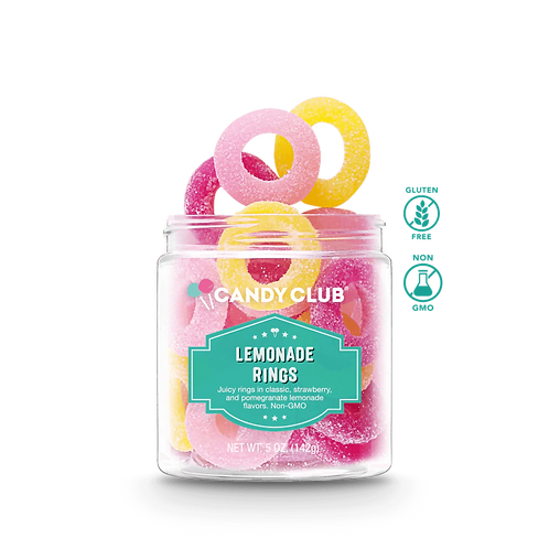 Candy Club Lemonade Rings 8oz