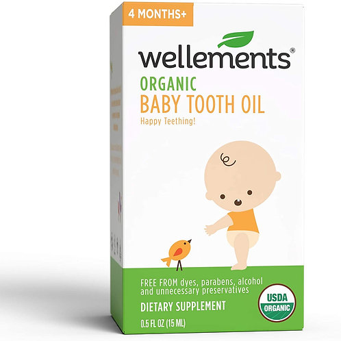Wellements Organic Baby Tooth Oil 0.5 oz