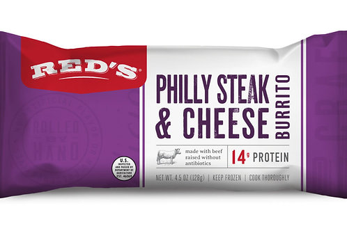 Reds Philly Steak and Cheese Burrito