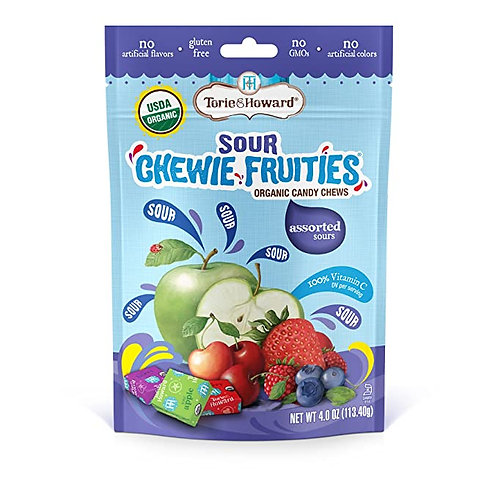 Torie and Howard Sour Chewie Fruities 4oz