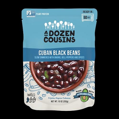 A Dozen Cousins Cuban Black Beans with Onions and Bell Pepper 10 oz