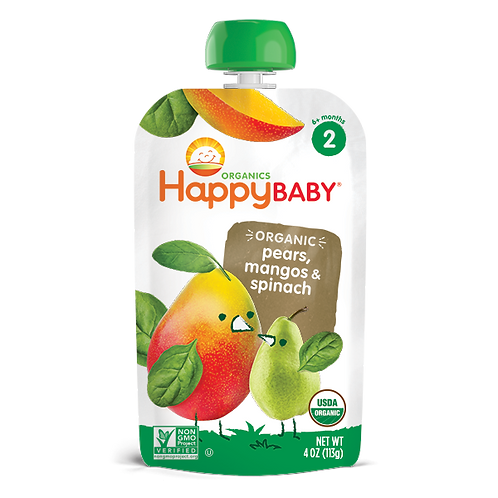 Happy Baby Pears, Mango and Spinach