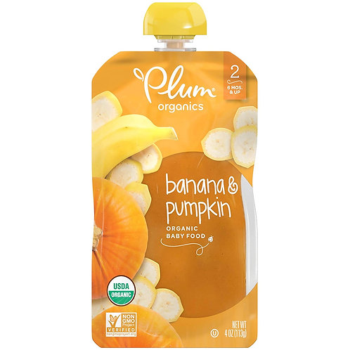 Plum Organic/ Banana and Pumpkin