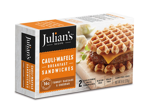 Julians Cauli- Waffles Breakfast Sandwich 8oz