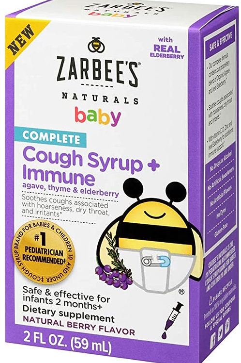 Zarbee Cough Syrup + Immune 2oz