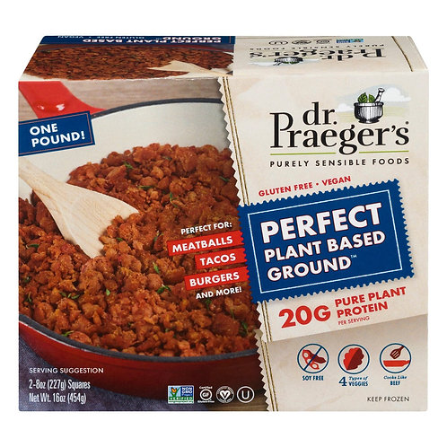 Dr. Pragers Plant Based Meatless Beef  16oz